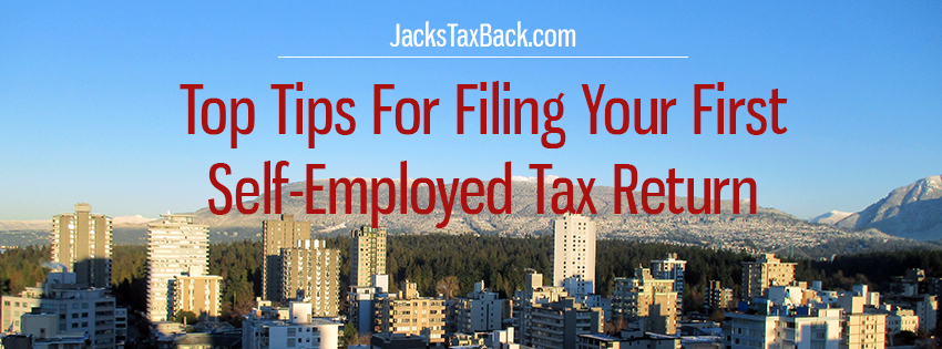 First time filing self-employed tax return