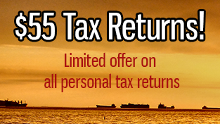 55 dollars limited offer tax returns
